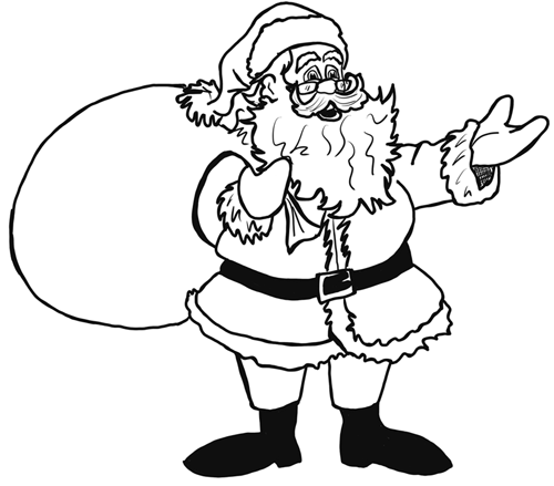 500x439 How To Draw Santa Clause Step By Step Drawing Lesson