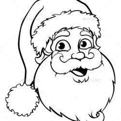 250x250 Santa Claus Drawing, Pencil, Sketch, Colorful, Realistic Art