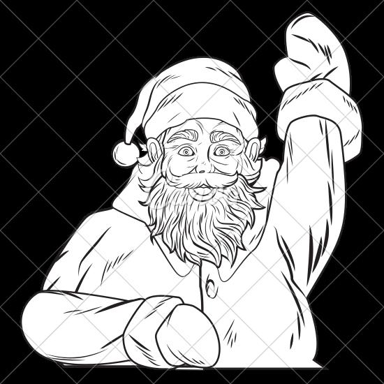550x550 Santa Claus Pop Art Cartoon