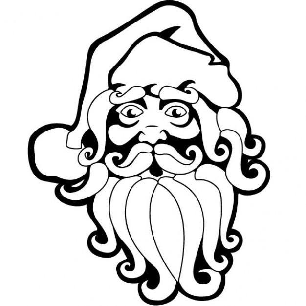 626x626 Santa Claus Drawing Christmas Vector Vector Free Download
