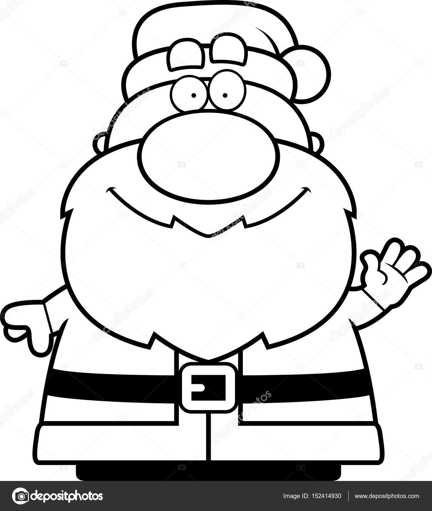 1437x1700 Waving Cartoon Santa Claus Stock Vector Cthoman
