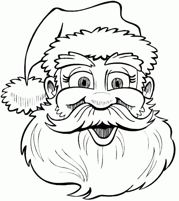 607x681 Kids n 85 coloring pages of Christmas Santa Claus