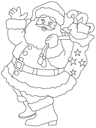 310x410 Santa Claus drawing to color «