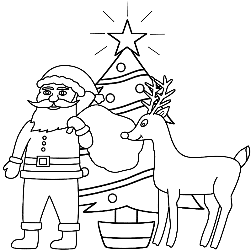 800x800 Drawn Santa Merry Christmas