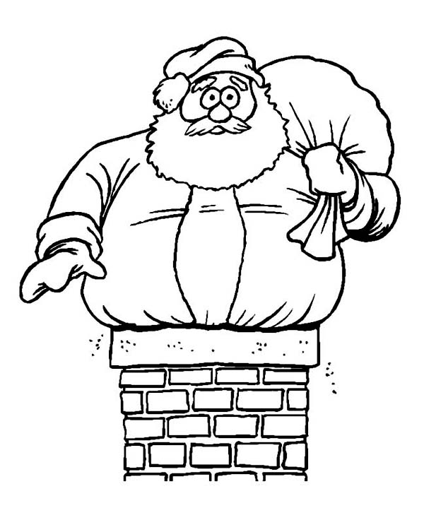 600x736 easy christmas coloring pages santa