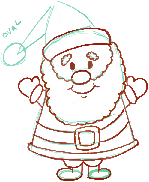 497x607 Easy Instructions For How To Draw Santa Clause For Kids