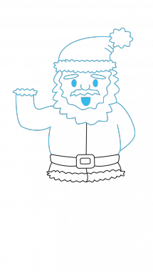 215x382 How To Draw Santa Claus, Christmas, Holidays, Easy Step By Step