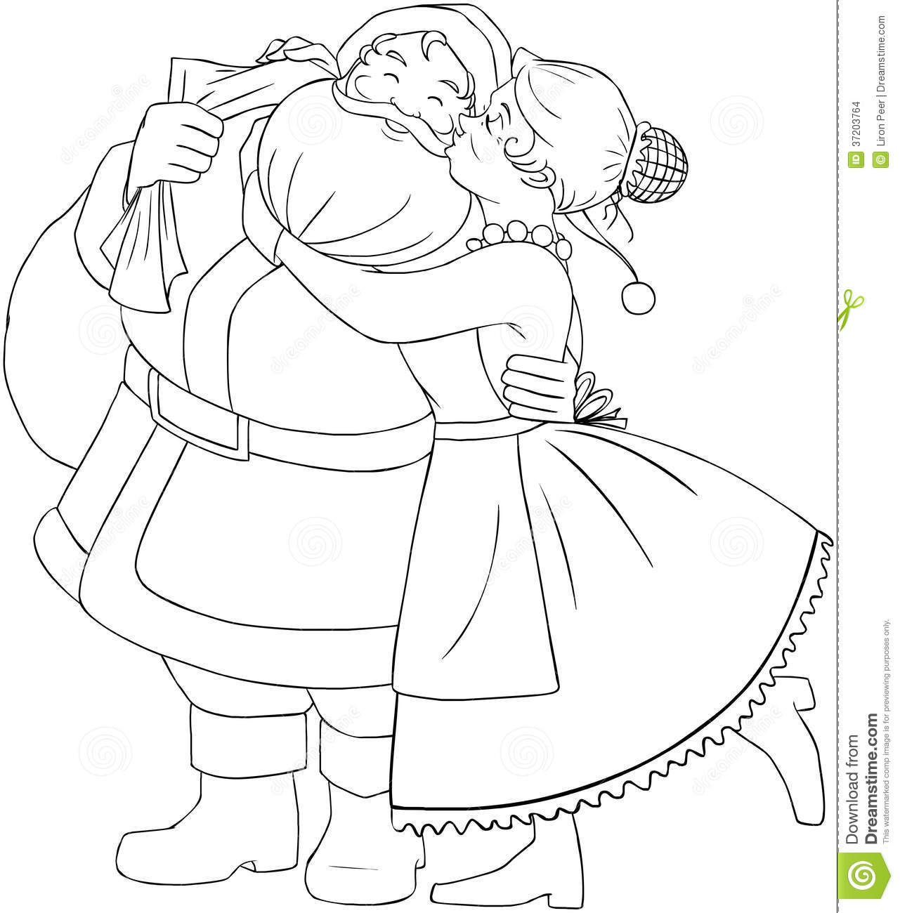 1281x1300 Santa Claus Coloring Pages Mrs Christmas Page