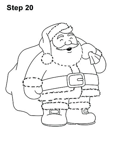 386x500 Santa Claus Drawing How To Draw In 8 Easy Steps Santa Claus
