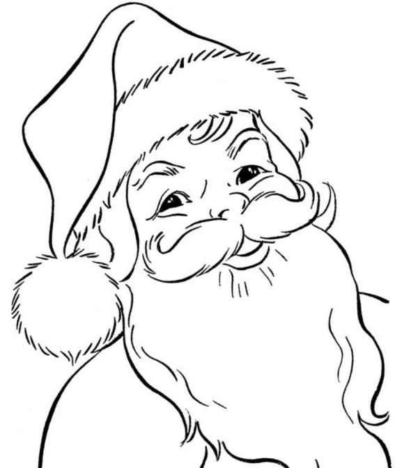 580x672 Christmas Drawings Of Santa Fun For Christmas