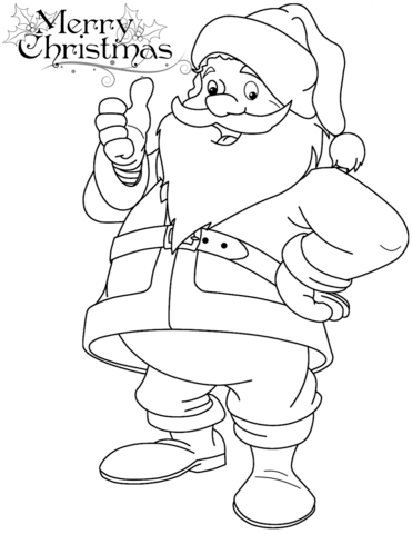 371x480 Funny Santa Claus Coloring Page Free Printable Coloring Pages