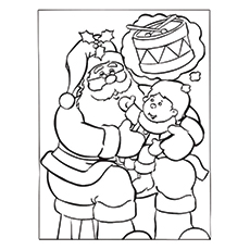 230x230 30 cute santa claus coloring pages for your little ones - Coloring Pages Santa Claus 2