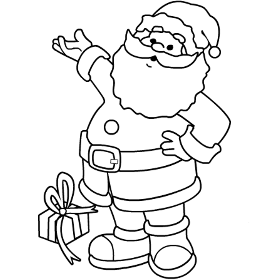943x943 Santa Claus Coloring Pages For Kids Colouring In Fancy Draw Pict