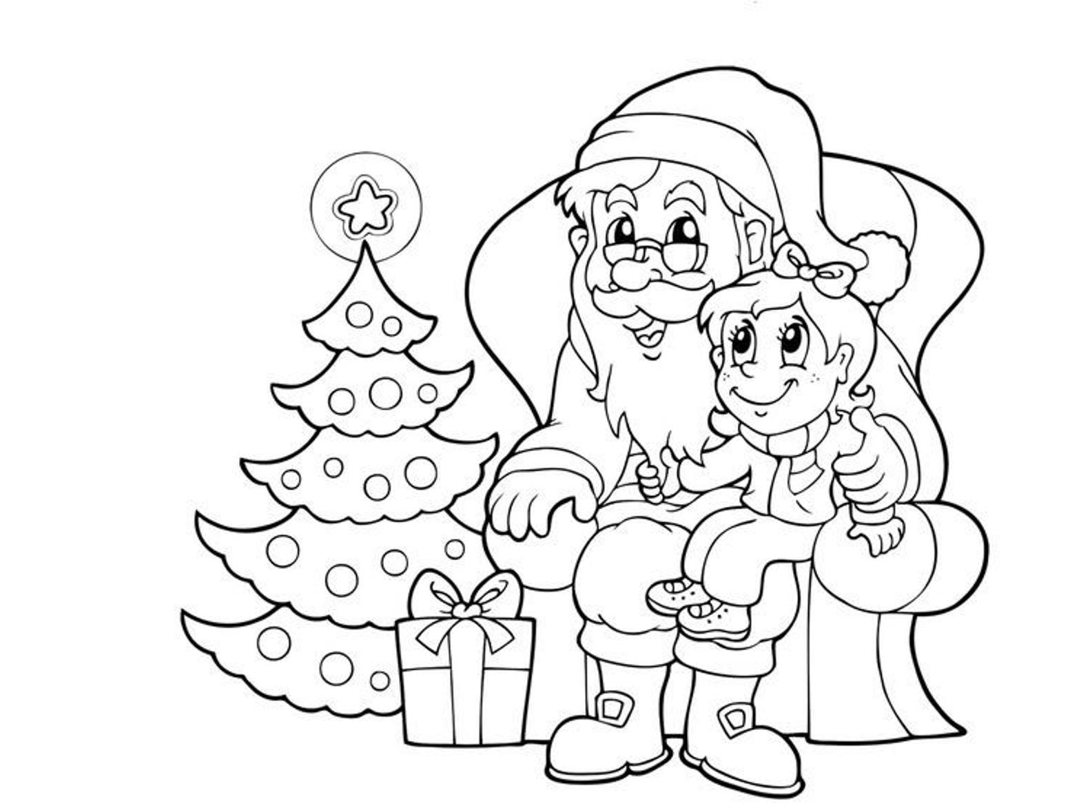 1553x1176 santa coloring pages for kids - Santa Claus Coloring Pictures For Kids