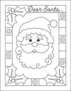 236x302 Drawn Santa Child Printable