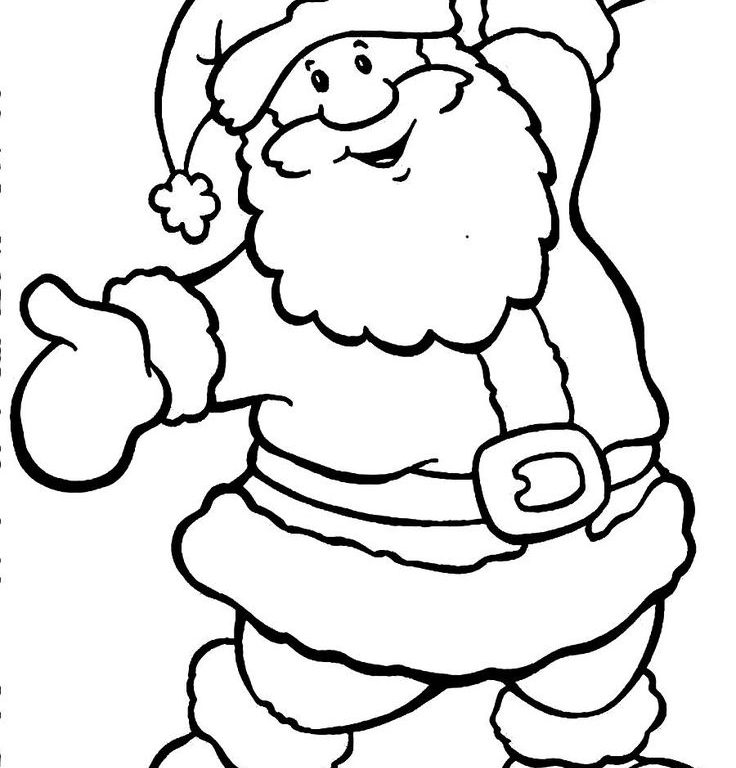 736x768 Download Santa Claus Drawing