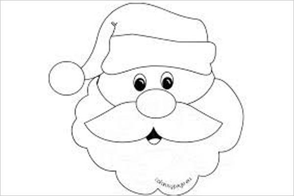 600x400 Free Santa Claus Drawing Templates Printable Designs