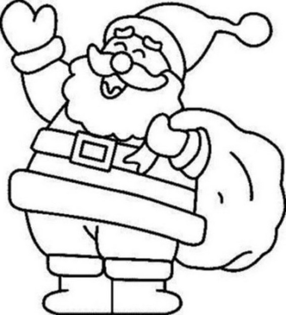 566x623 Santa Claus Coloring Pages For Humorous Draw Print Printable