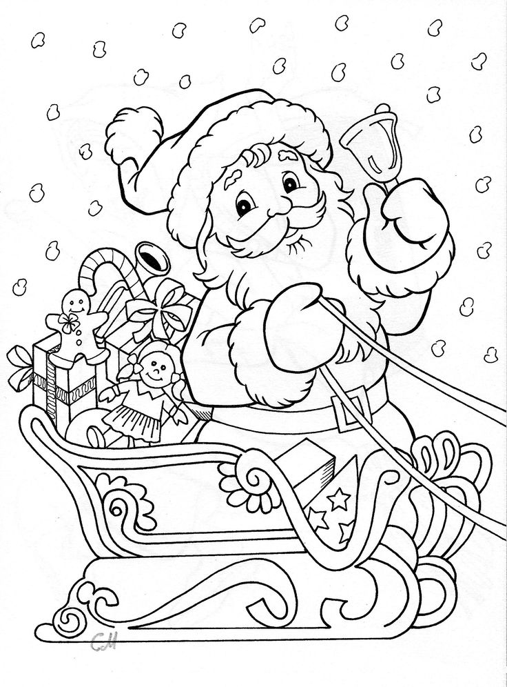 Santa claus drawing images at free for for Santa claus is coming to town coloring pages