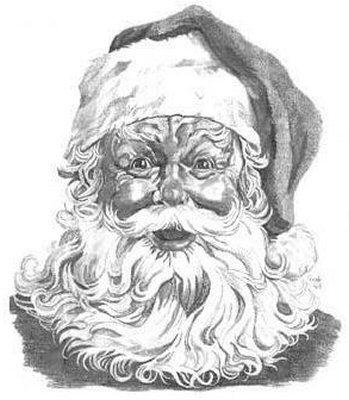 349x400 Santa Claus Pencil Drawing