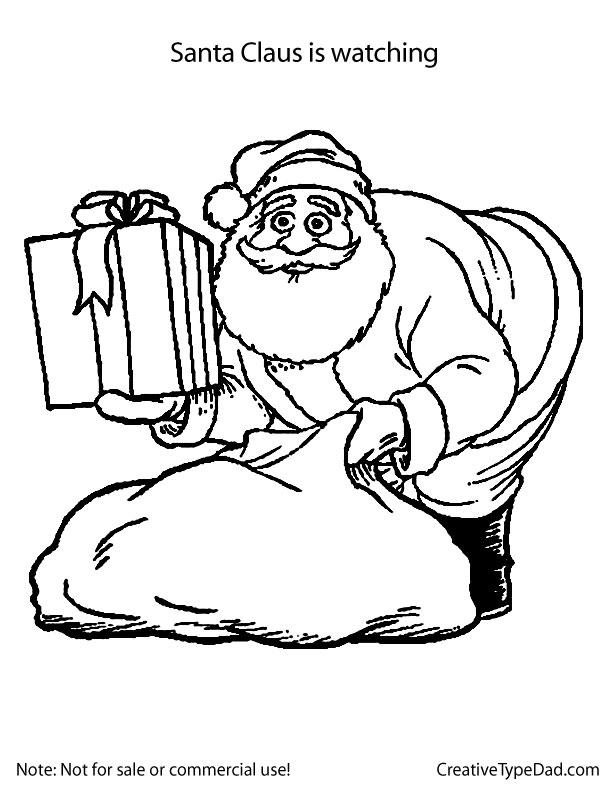 612x792 Xoaqwepo Santa Claus Drawing Pages