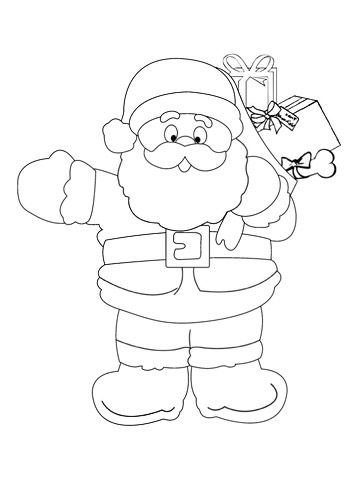360x480 Printable Christmas Coloring Pages