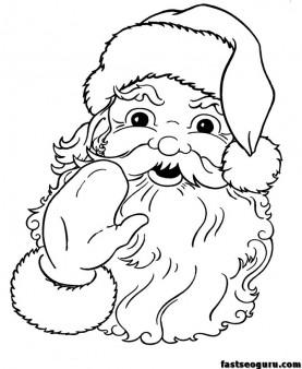 277x338 Printable Santa Claus Face Cola Coloring Pages