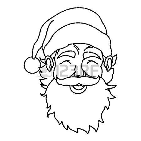 450x450 Santa Claus In Chimney Icon Vector Illustration Graphic Royalty
