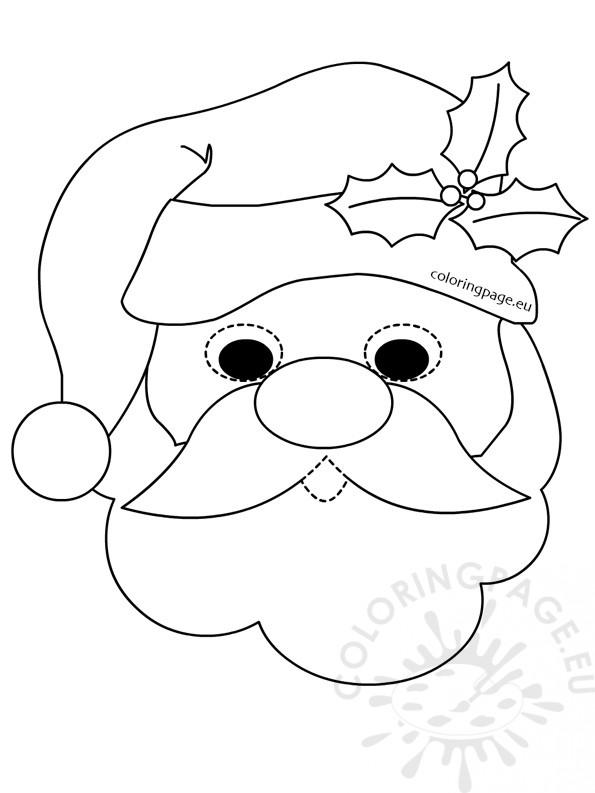 595x793 Santa Claus Mask Coloring Page