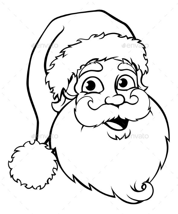590x708 Santa Claus Outline By Krisdog Graphicriver