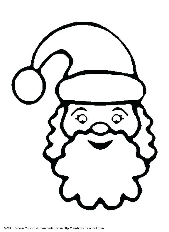576x792 santa face coloring pages face santa claus face coloring page