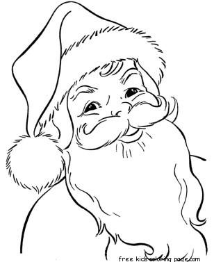 308x377 Coloring Pages Of Christmas Santa Claus Face Applique Ideas