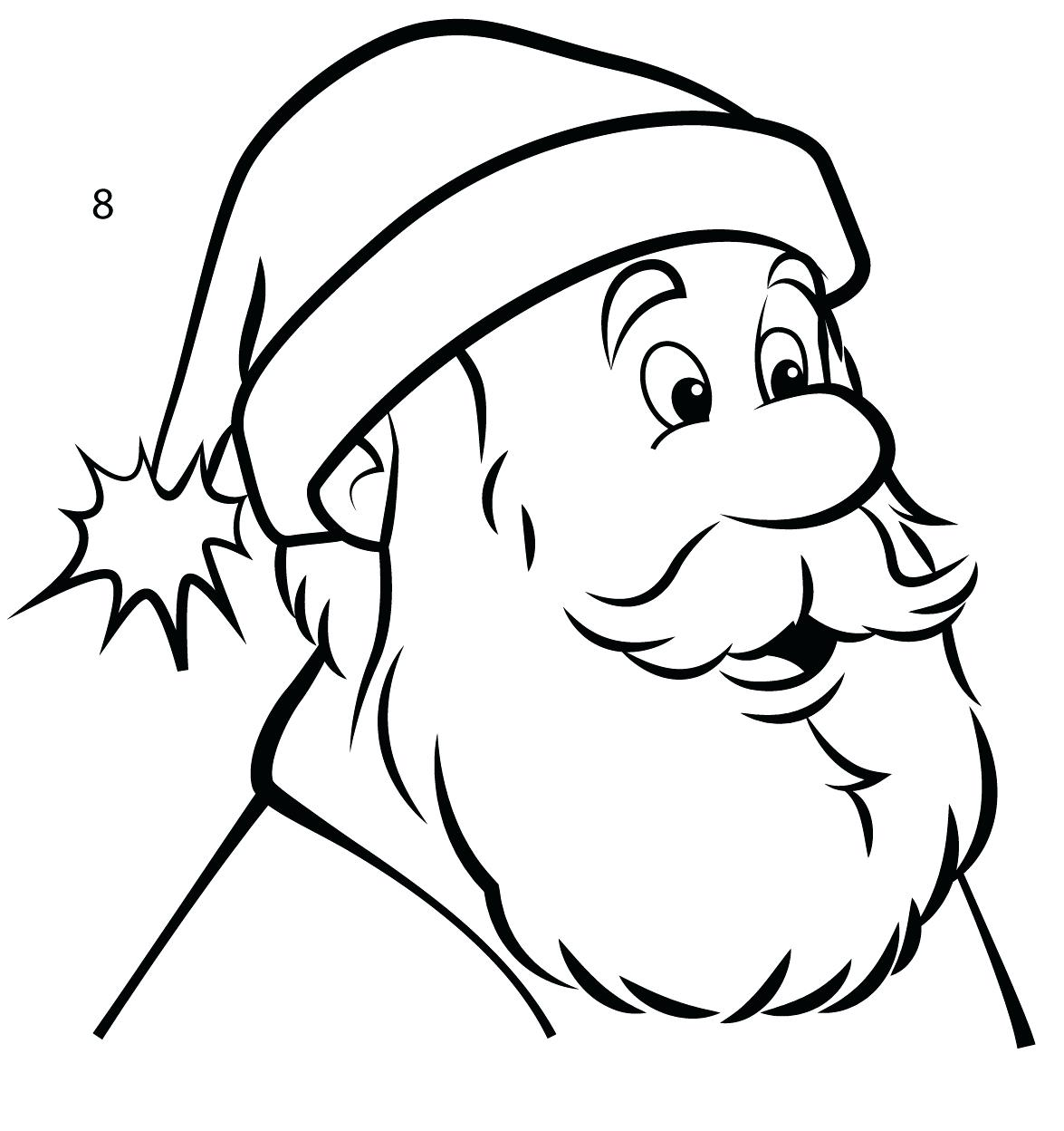 Santa Claus Face Drawing at GetDrawings.com | Free for personal use ...