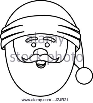 300x330 Silhouette Of Santa Claus Face With Christmas Hat And Half Shadow