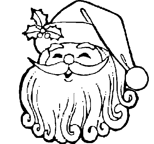 505x470 Colored Page Santa Claus Face Painted By Niamh