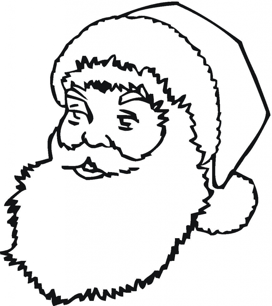 911x1024 Free Printable Santa Claus Coloring Pages For Kids For Santa Claus