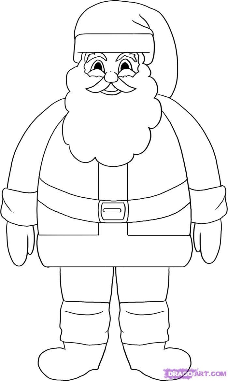 700x1170 Simple Drawing Of Santa How To Draw Santa Clause, Santa, Santa