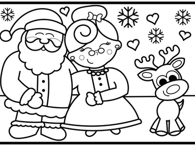 400x300 Draw, How To Draw Santa Claus And Mrs. Claus Step By Step For Kids