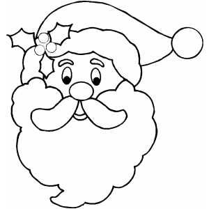 300x300 Drawn Face Santa