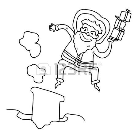 450x450 Hand Drawing Cartoon Character Christmas Santa Claus Royalty Free