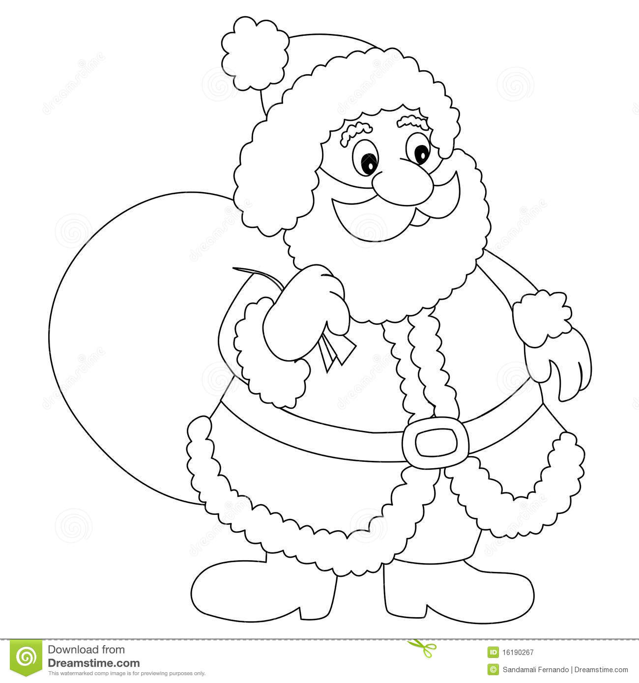 1300x1390 Santa Claus Clipart Outline