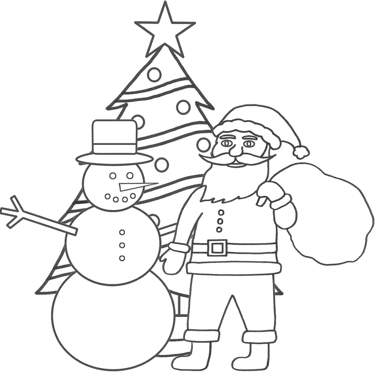 1200x1200 Santa Claus Drawing For Kids