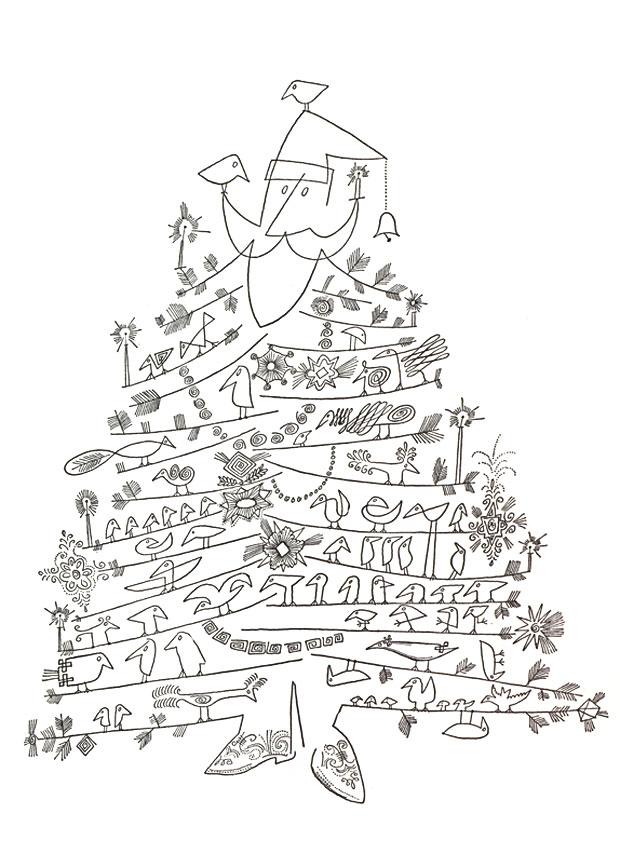 620x854 Santa Claus As Christmas By Saul Steinberg, C. 1949