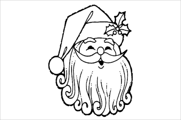 Santa Claus Line Drawing