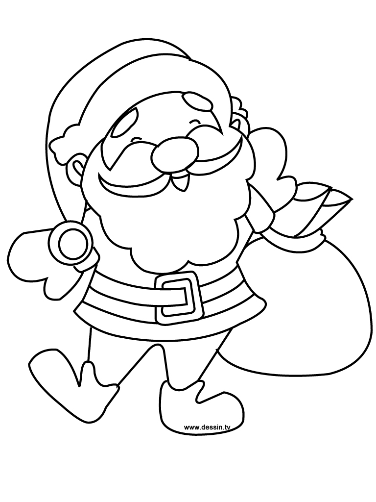 768x1024 Coloring Santa Claus