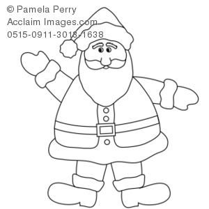 300x300 Illustration Of Clip Art Illustration Of A Santa Claus Coloring Page
