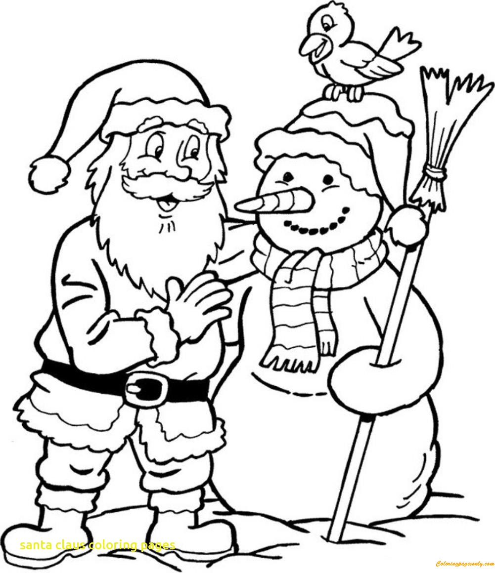 1001x1160 santa claus coloring pages with snowman and santa claus coloring
