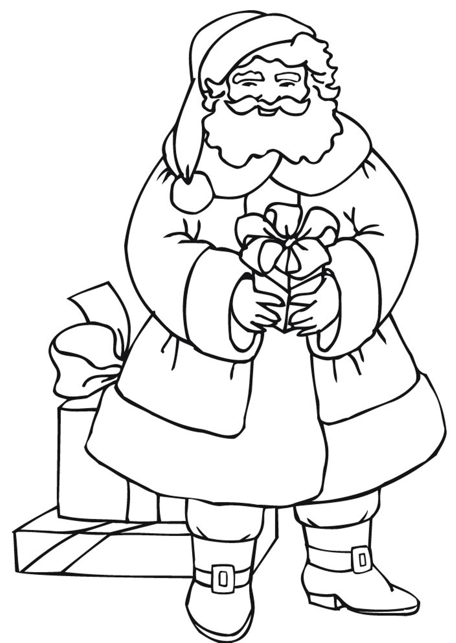 Santa Claus Line Drawing at GetDrawings.com | Free for personal use ...