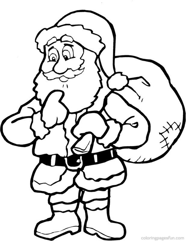 619x800 Claus Coloring Pages Printable