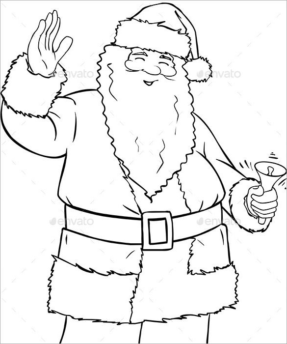 Santa Claus Pencil Drawing